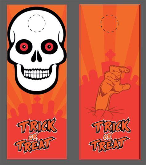Free Halloween Templates Vector Files Nextdayflyers Free Door Hanger Template Illustrator