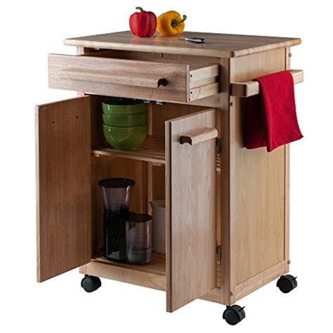 kitchen cabinet cart winsome wood single drawer kitchen cabinet storage cart