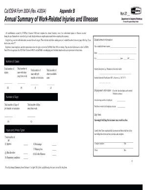 cal osha 300 a fill online, printable, fillable, blank
