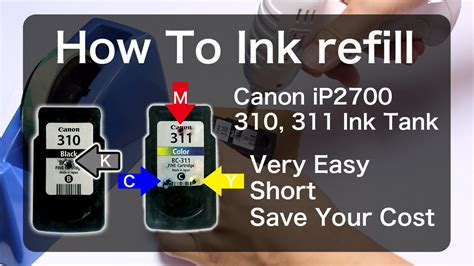 How To Get Ink by How To Ink Refill Canon Bc310 Bc311 Ip2700