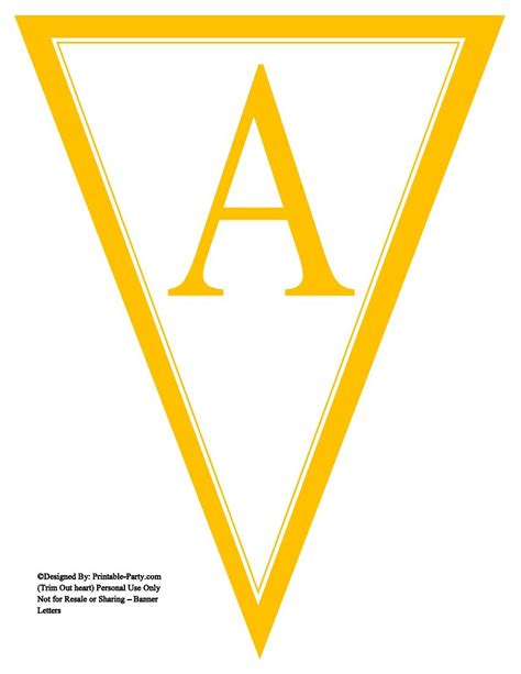 printable yellow banner yellow triangle pennant banner printable alphabet lett