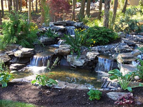 waterfalls in backyard serene waterfall this natural water feature was featured