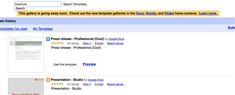 google drive templates brochure 4 best and