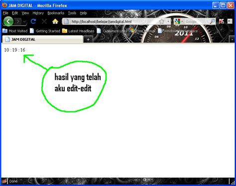 cara membuat jam digital menggunakan javascript membuat jam digital dengan javascript yitno21