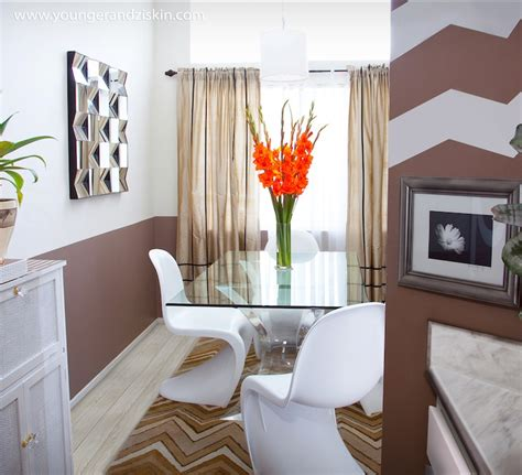 Two Tone Dining Room Walls by Two Tone Walls Eclectic Dining Room Svz Interior Design