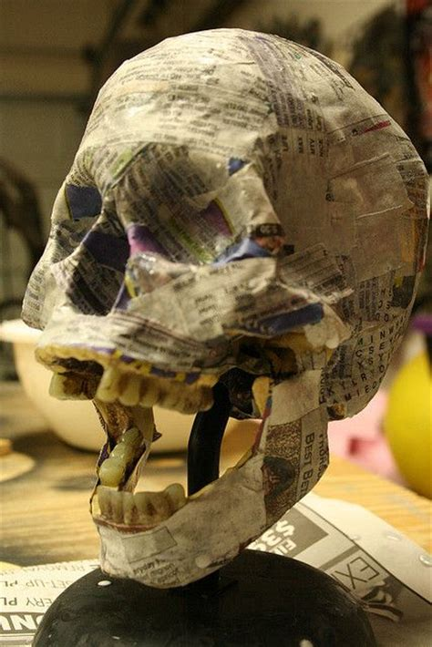 How To Make Paper Mache Skulls - paper mache skulls a is for