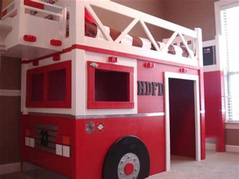fire truck kids bed 35 cool kids loft beds kidsomania