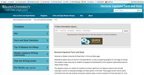 Attention Walden University Capstone Writers Introducing The New Form And Style Website Walden Template