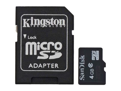 Micro Sd Card 4gb V Adapter 4gb microsd card with adapter sd and microsd external storage