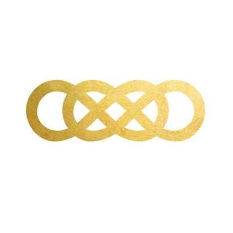 infinity tattoo in revenge revenge double infinity gold metallic temporary tattoo