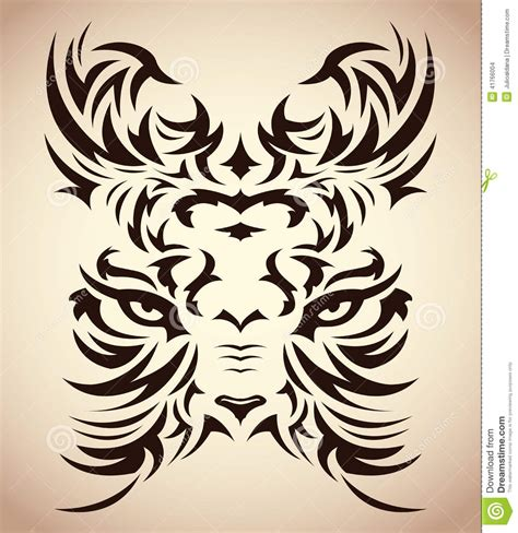 abstract tribal tattoo abstract tribal tiger vector stock vector