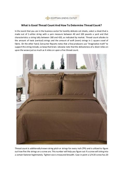 what thread count is good what is good thread count and how to determine thread count