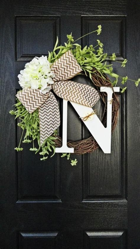 Initial Front Door Wreaths 25 Best Ideas About Door Wreaths On Door Wreaths Wreaths And Diy Wreath Hanger