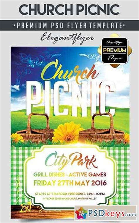 Church Picnic Flyer Psd Template Facebook Cover 187 Free Download Photoshop Vector Stock Image Free Church Picnic Flyer Templates