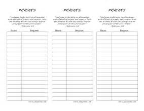 Printable Prayer List Template Prayer Request Forms Printable Viewing Gallery