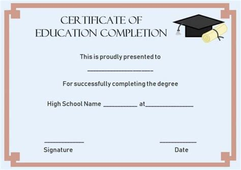 continuing education certificate template certificate of completion 22 templates in word format