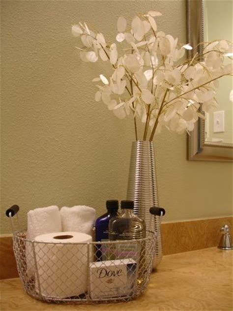 bathroom basket ideas basket idea decoration for guest bathroom spa feel for my