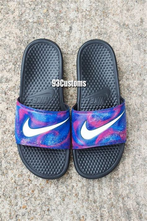 nike slides shoes nike custom galaxy slides