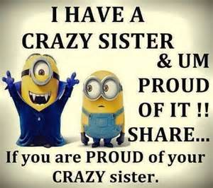 Crazy Sister Meme - 17 best images about all my minions on pinterest the