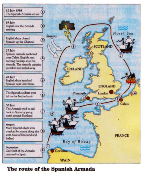 spanish armada map learningmrbelshawcouk