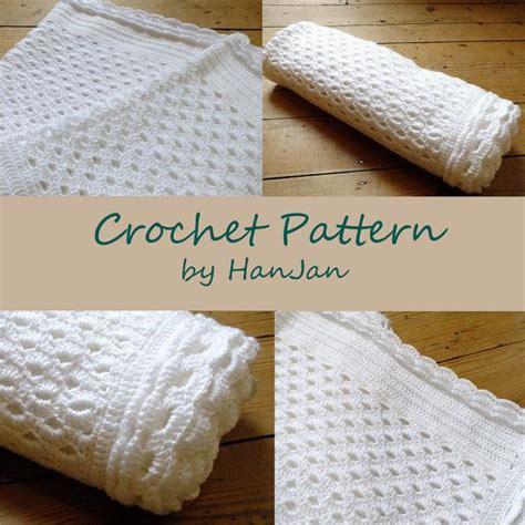 white pattern blanket white shell lace blanket instant download pdf crochet