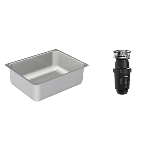 Waste Disposal Kitchen Sink Moen 2000 Series Undermount Stainless Steel 23 In Single Basin Kitchen Sink With Gx Pro Series