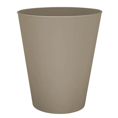 brushed nickel wastebasket bathroom shop hefty brushed nickel wastebasket at lowes com