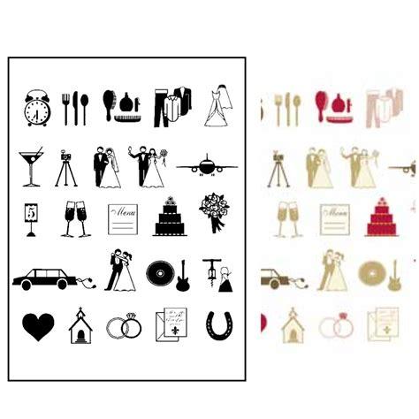 Wedding Icons by Stickytiger Wedding Icon St Set