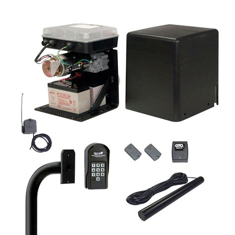 mighty mule gate opener mighty mule contractor series compact slide gate opener access package mm lps13 p the home depot