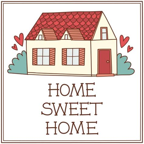 home sweet home background vector premium