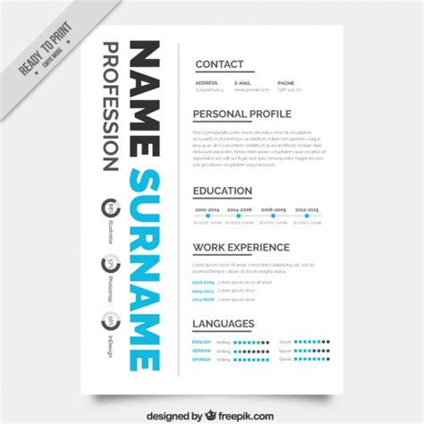 Cv Sjabloon Gratis Creative Cv Sjabloon Vector Gratis