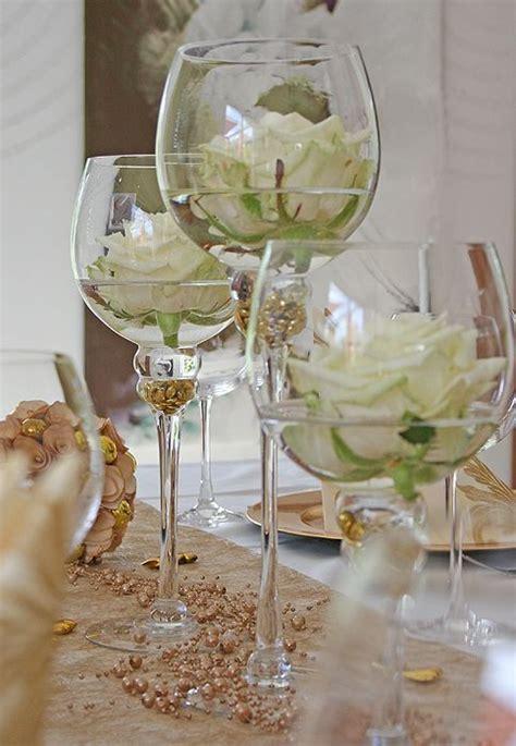 Tischdeko Idee Goldene Hochzeit:   Hochzeit Vera