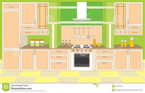 online kitchen furniture kitchen furniture interiors stock vector image 17816918