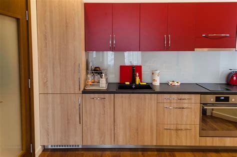 Design Folie Küchenfronten by K 252 Che Rot Bekleben