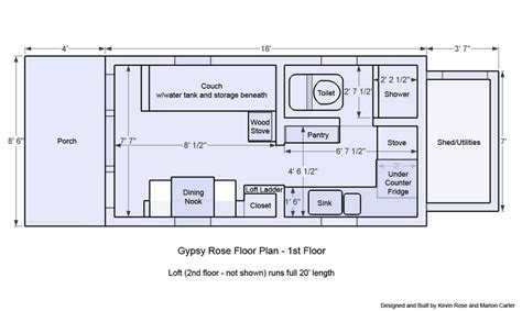 tiny house designs floor plans tiny house on wheels floor plans gypsy rose floor plan 1st