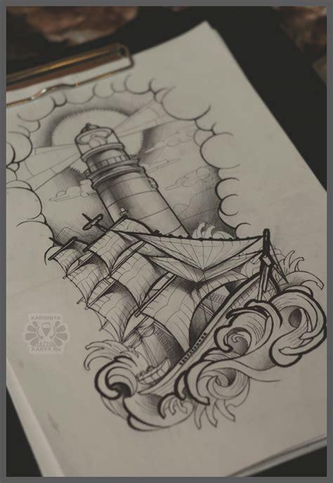 Lighthouse And Ship By Karviniya On Deviantart Nautical Flash 2