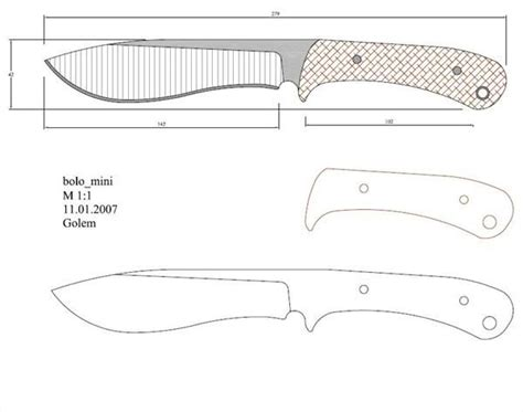 knife pattern dwg 239 best images about ножеделание on pinterest