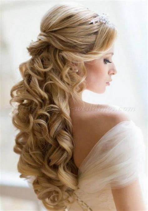 hairstyles on hair down wedding hairstyles for long hair half up half down