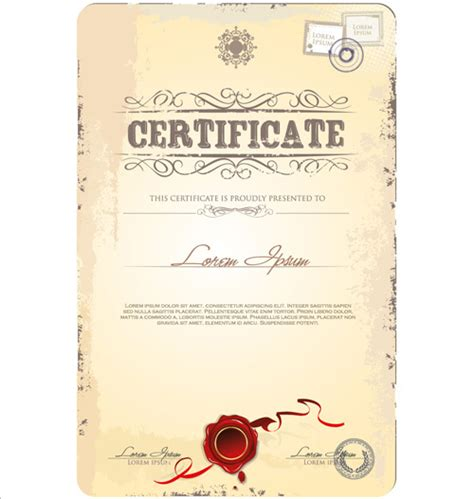 design a certificate in illustrator cover of certificate design template vector free vector in