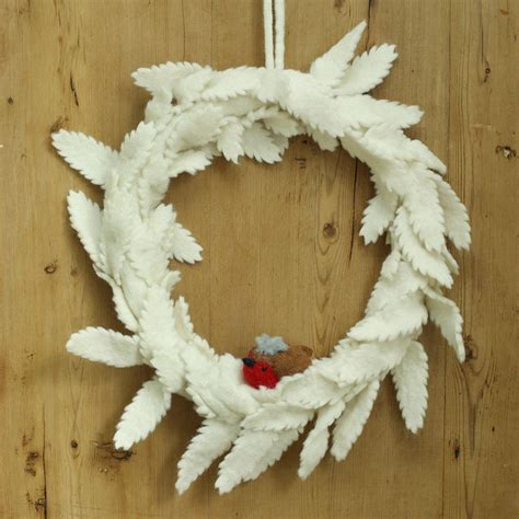 felt wreath felt easter wreath with robin trim by ella