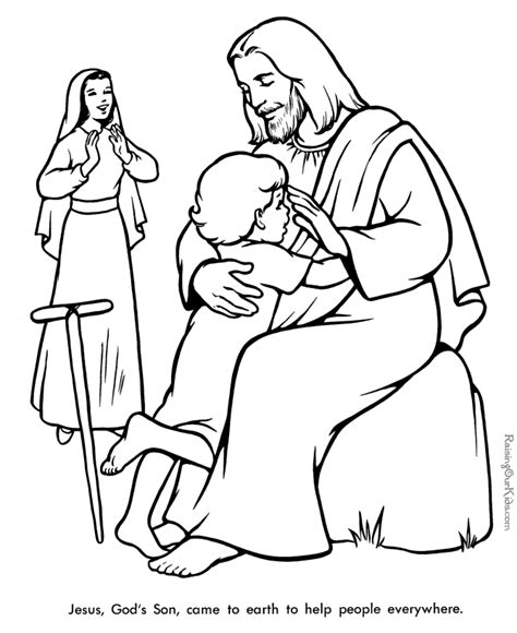 coloring pages jesus christ storytime at church