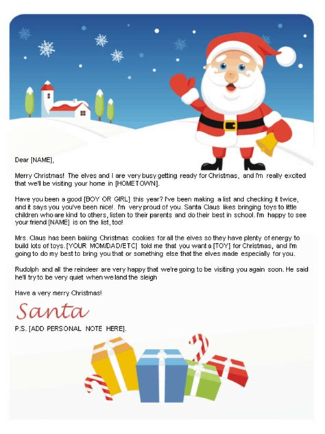 santa letters print home gifts designs