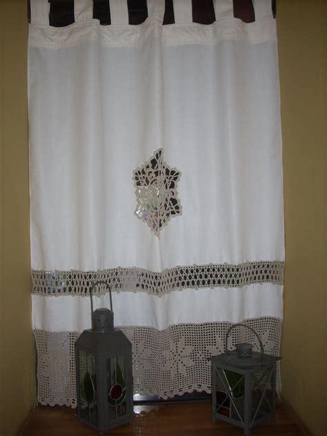 cortinas de tela  apliques de crochet buscar  google cortinas  lamparas pinterest