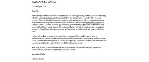 business letter samples effective follow letters