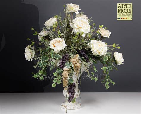 composizione fiori finti come fare composizione di fiori artificiali in tessuto con