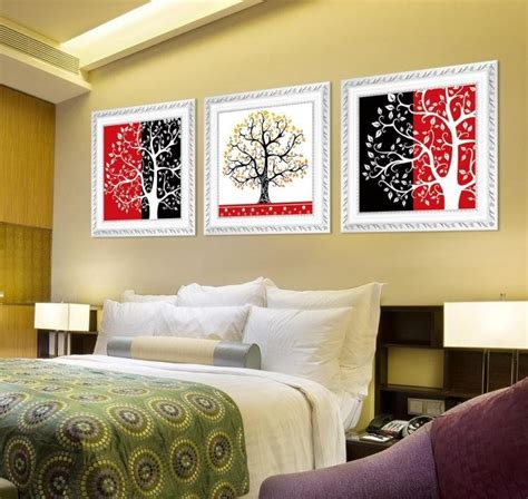 feng shui white bedroom lucky lucky red black and white decorative painting