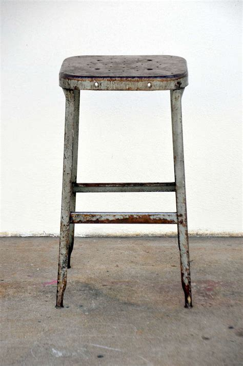 industrial counter height stools set of four 1940s weathered industrial counter height