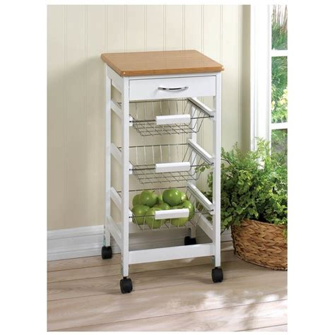 small kitchen cart on wheels drop leaf side table storage
