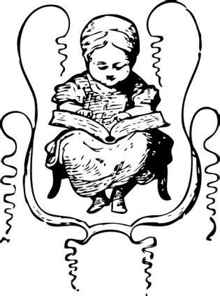 membaca format eps gadis kecil membaca clip art vektor clip art vektor gratis