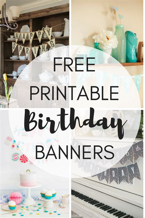 printable birthday poster free printable birthday banners the girl creative